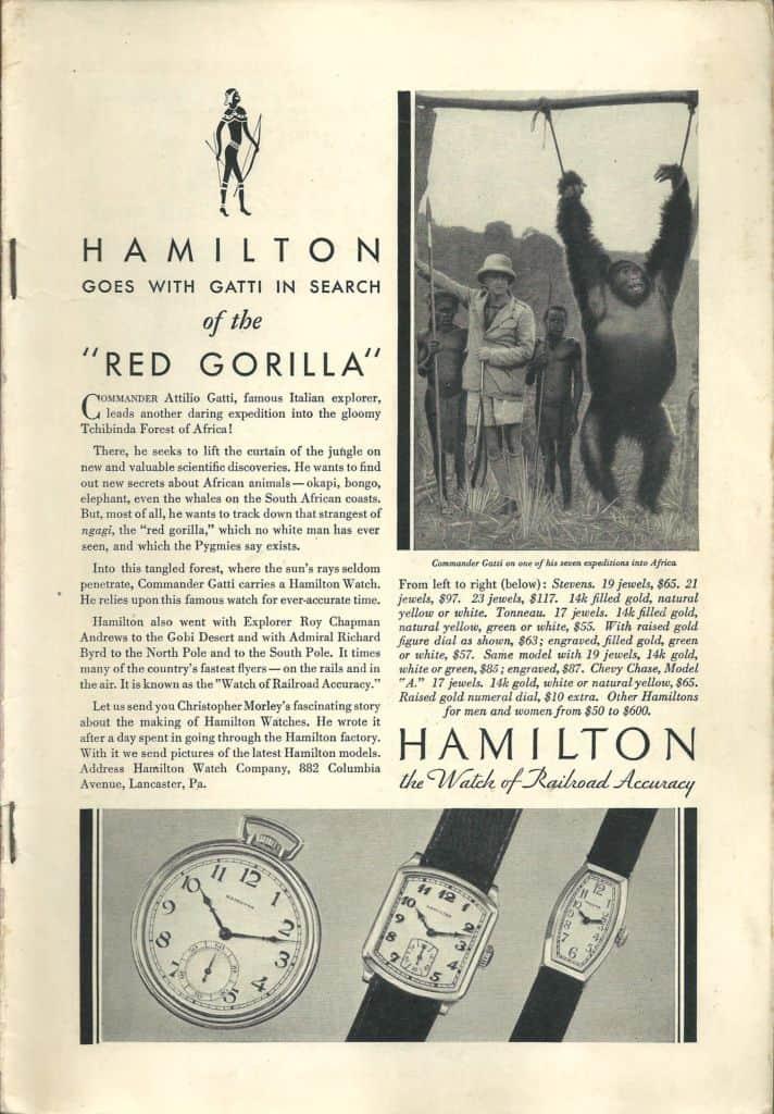 1932 Hamilton Vintage Print ads