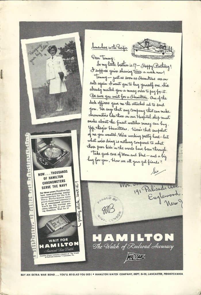1945 hamilton vintage advertisement