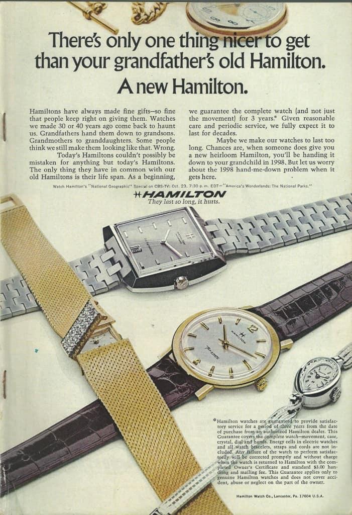 1968 Hamilton Vintage Print ads