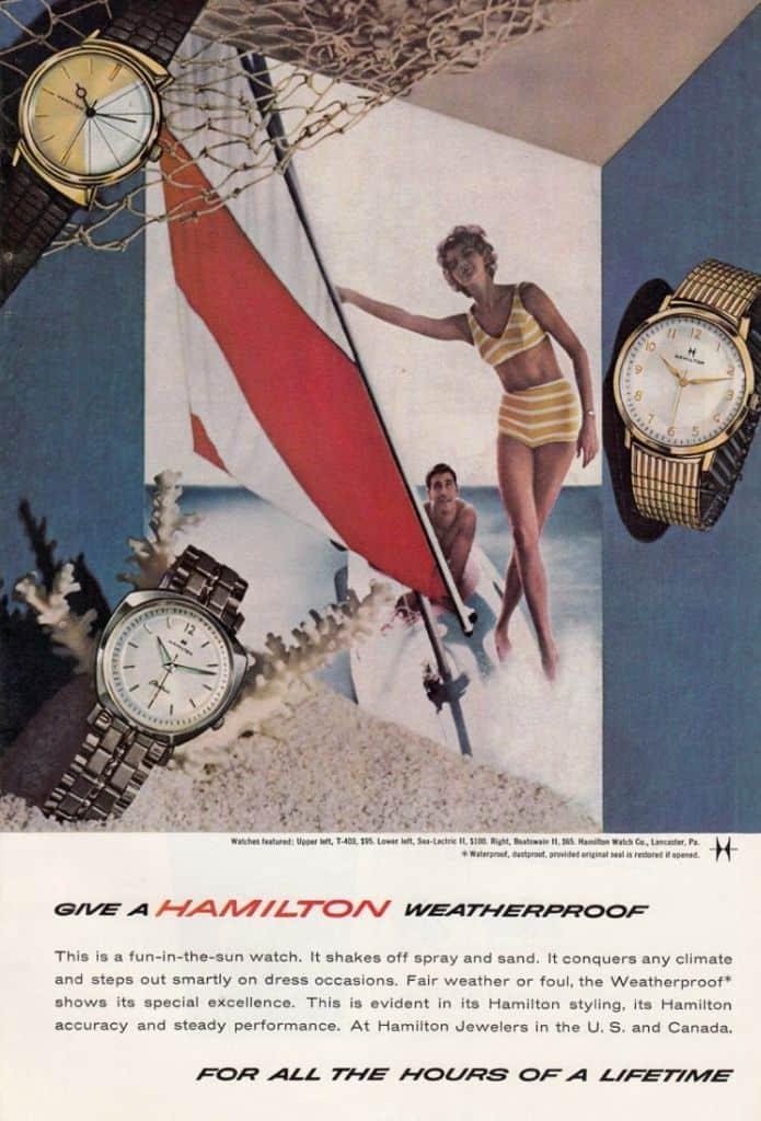 1962 Hamilton Vintage Print ads