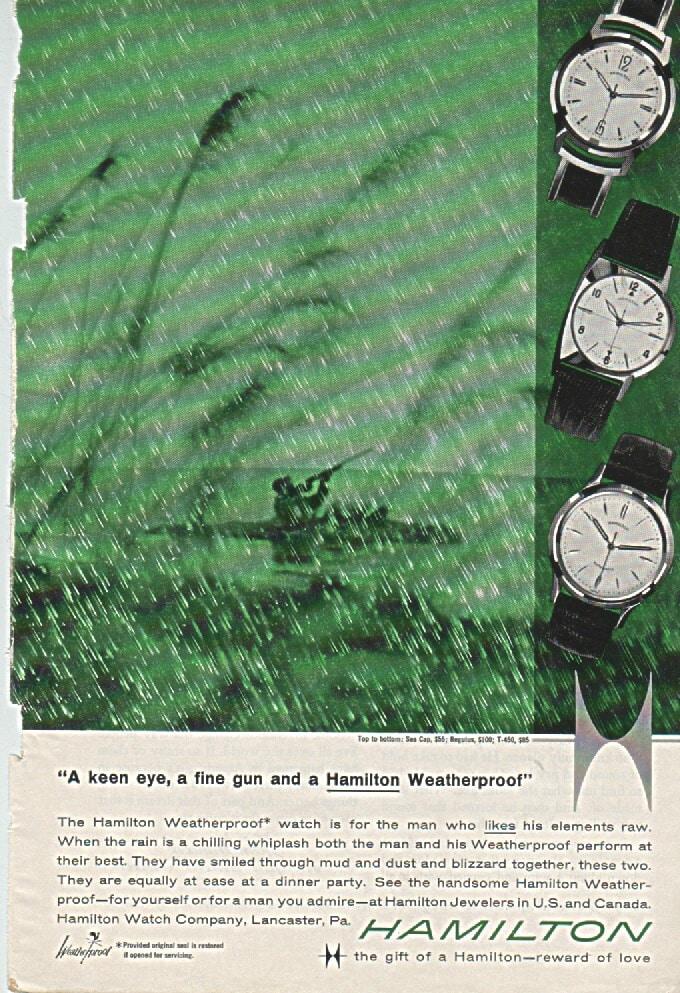 1969 Hamilton Vintage Print ads