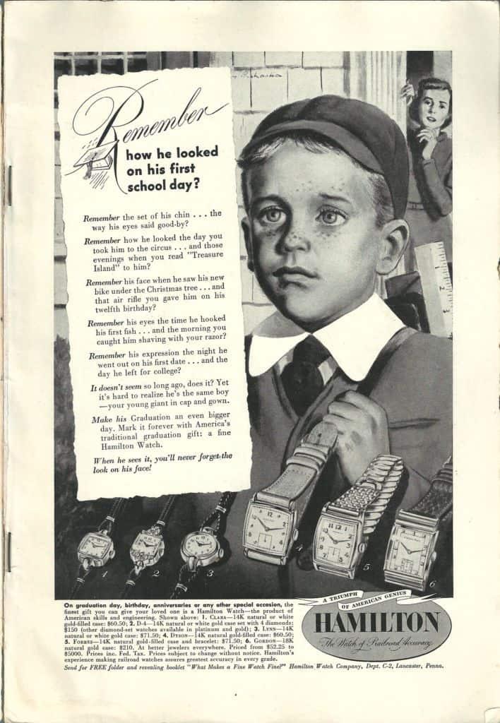 1949 Hamilton Vintage Print ads