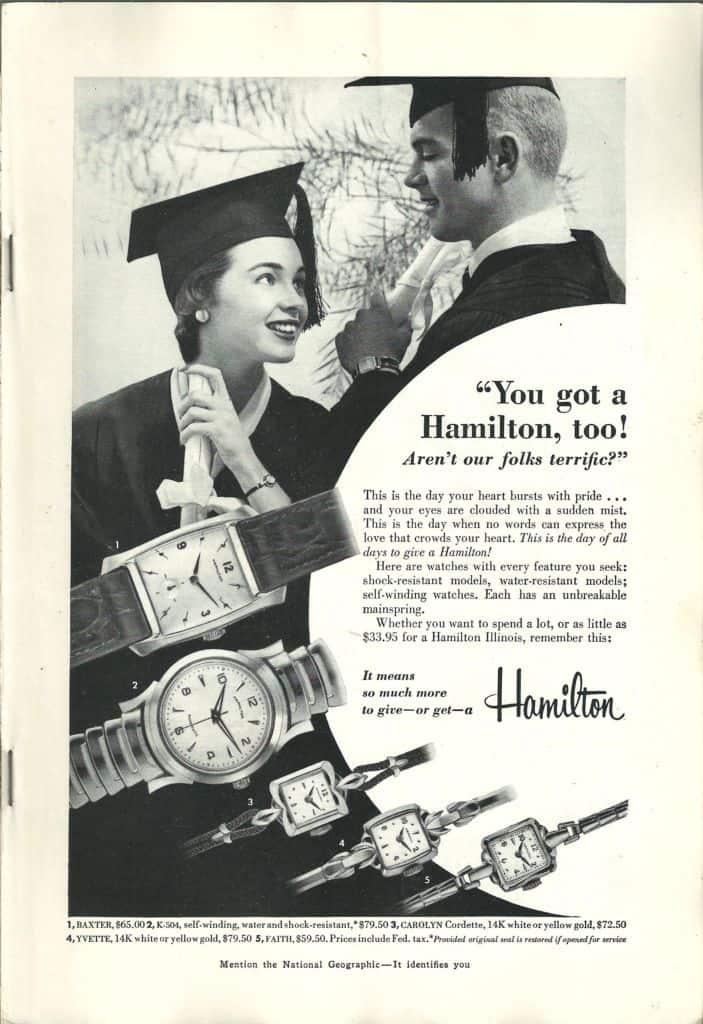 1955 Hamilton Vintage Print ads
