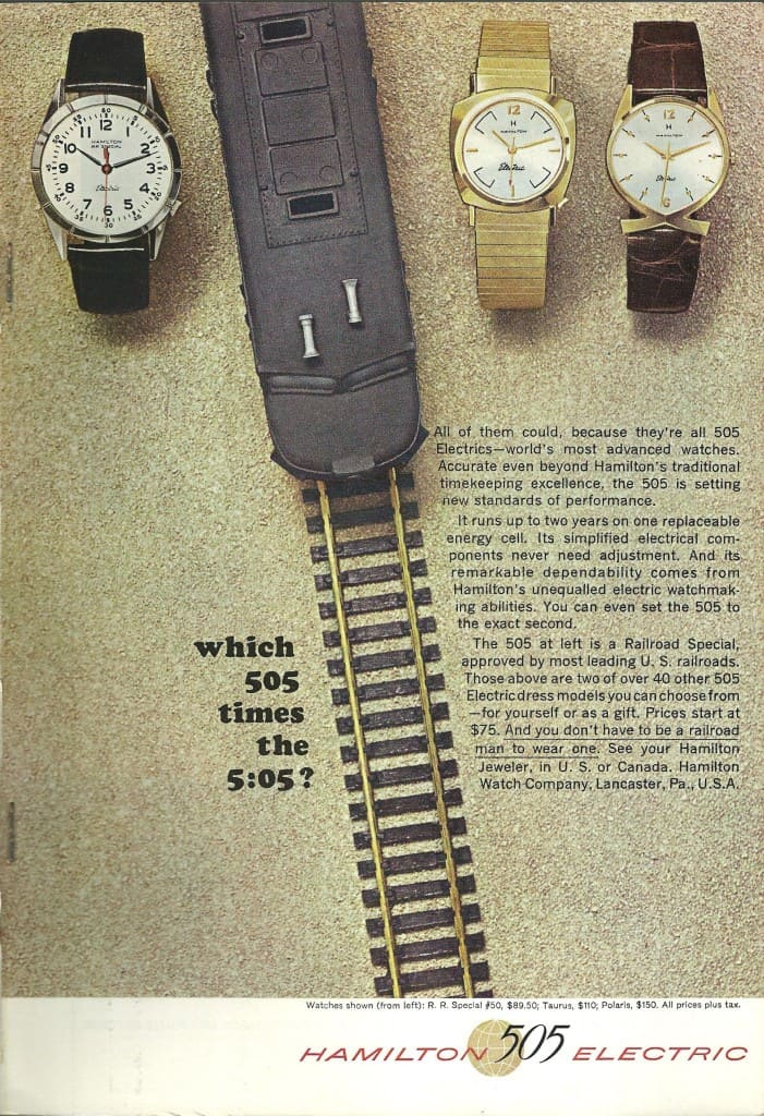 1963 Hamilton Vintage Print ads