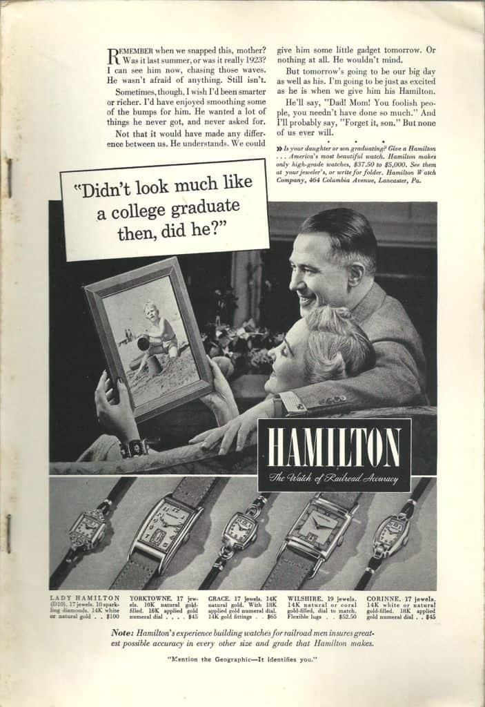 Hamilton Watches Print Advertisements Collection 1922-1974 2