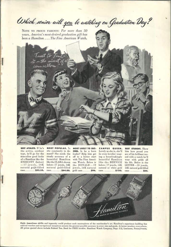 1947 hamilton vintage advertisement
