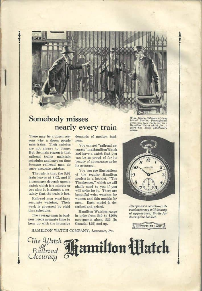 7-1922 hamilton vintage advertisement