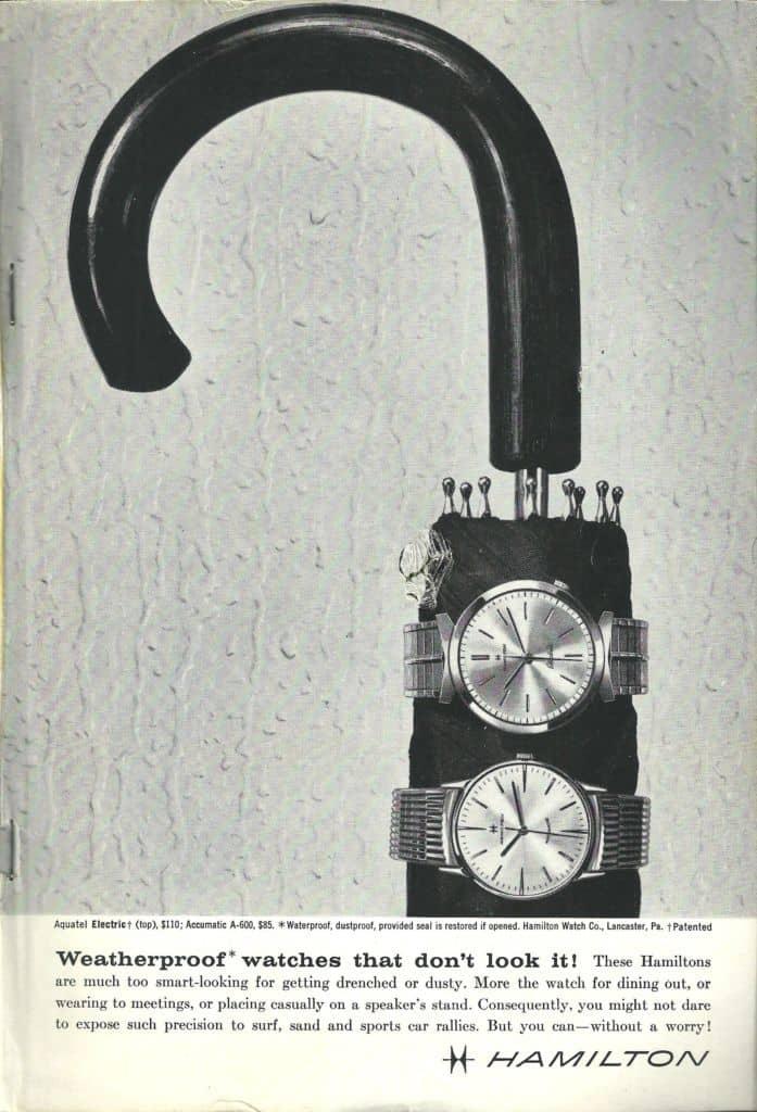 1961 Hamilton Vintage Print ads
