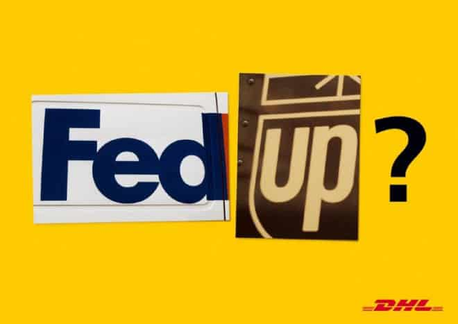 dhl vs fedex brand war