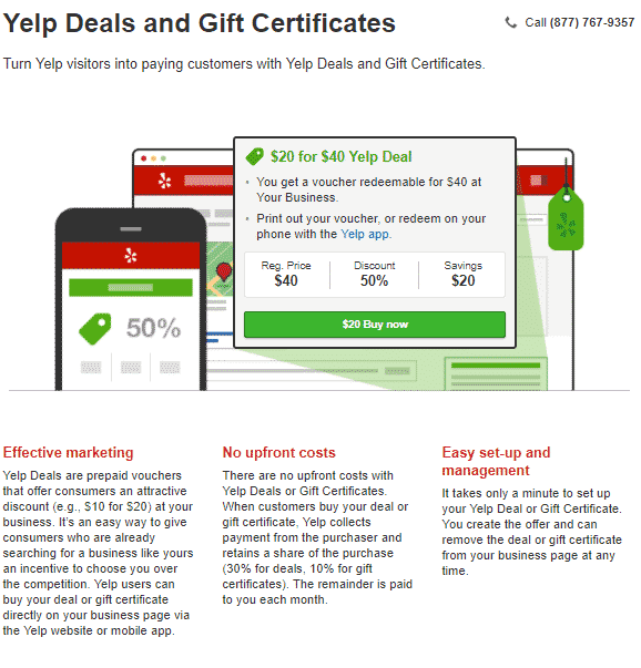 yelp offres et chèques cadeaux comment yelp gagne-t-il de l'argent
