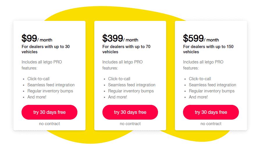 letgo pro pricing