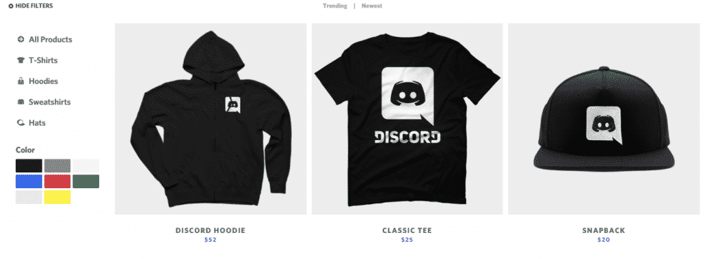 how does discord make money merchandise