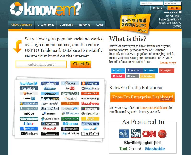 knowem personal branding