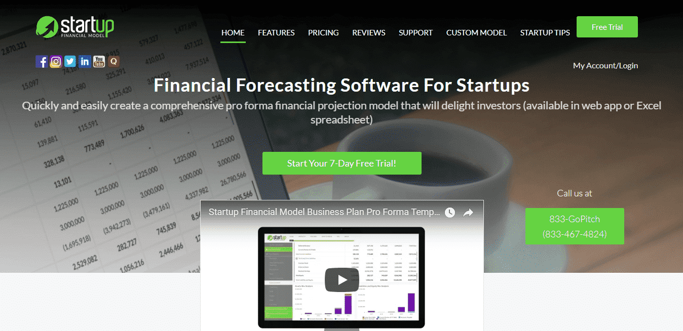 startup financial model