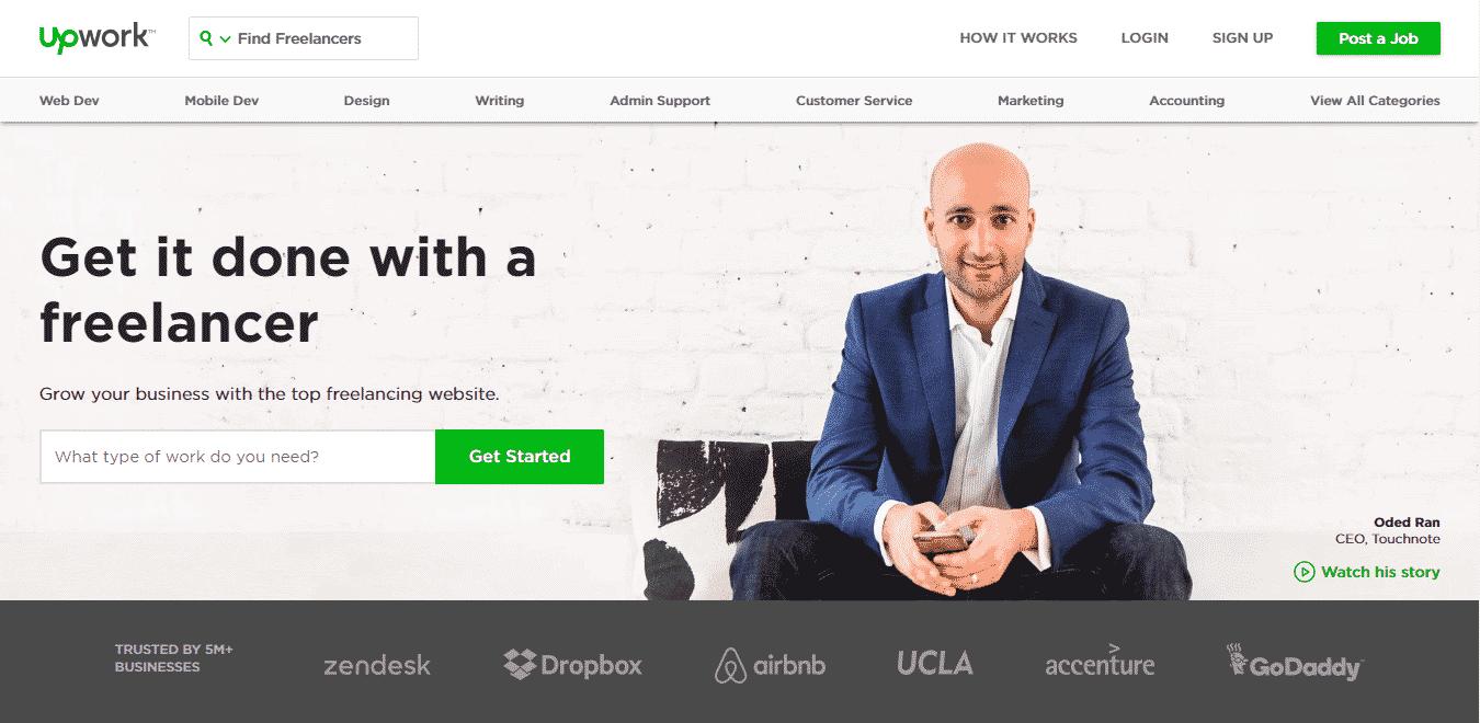 upwork best outsourcing website