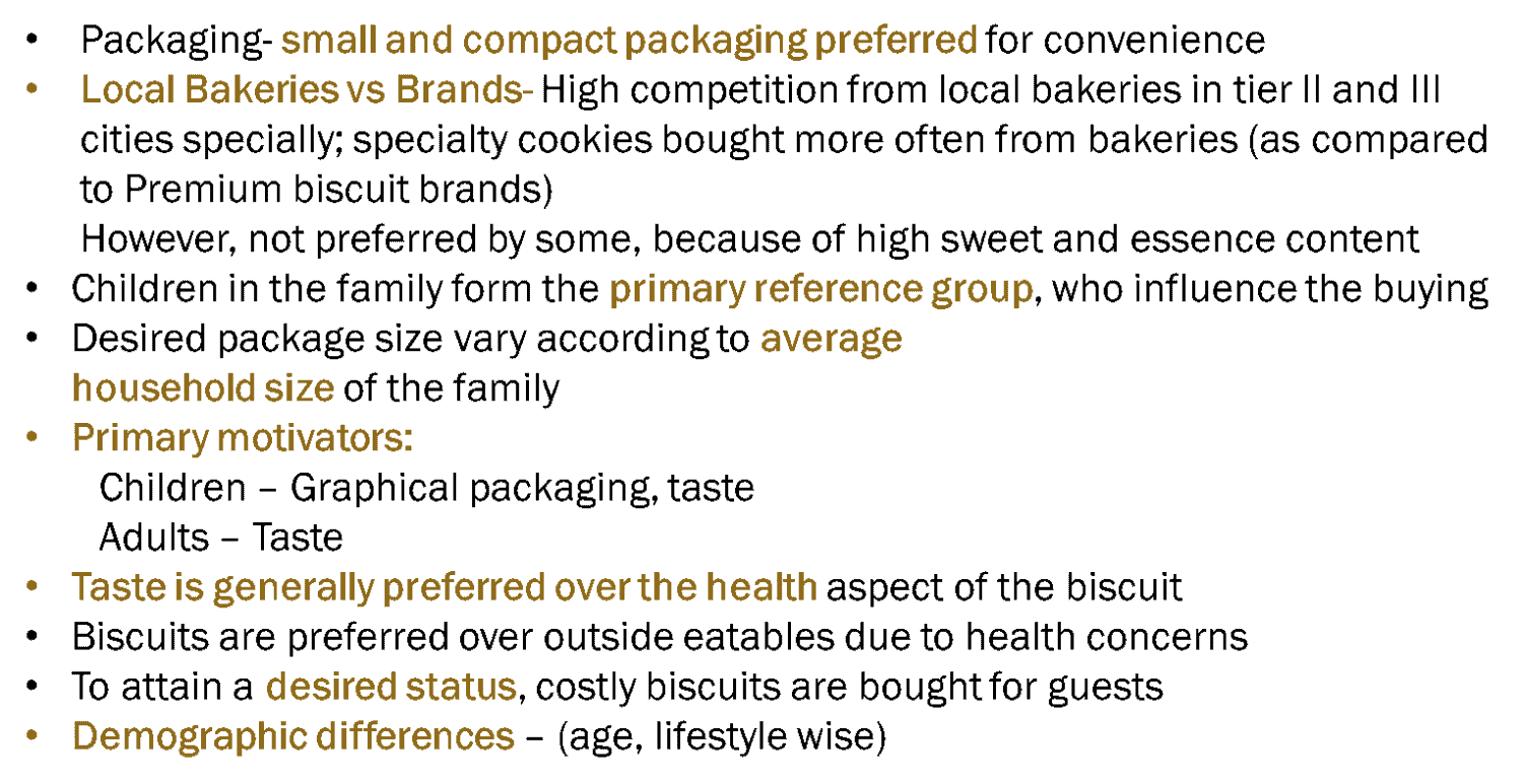consumer research for biscuits