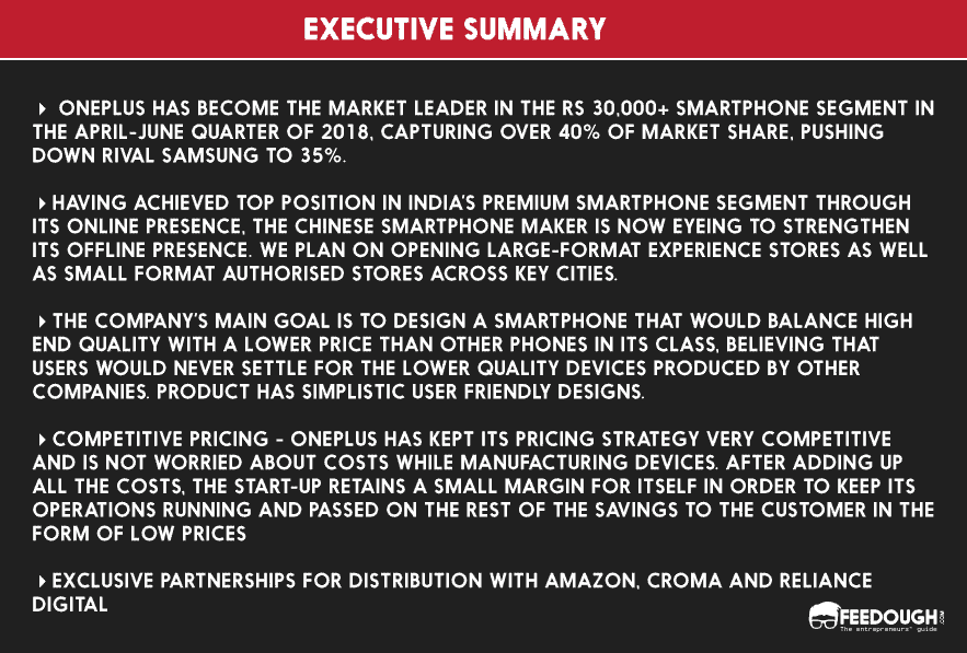 executive summary oneplus 6t