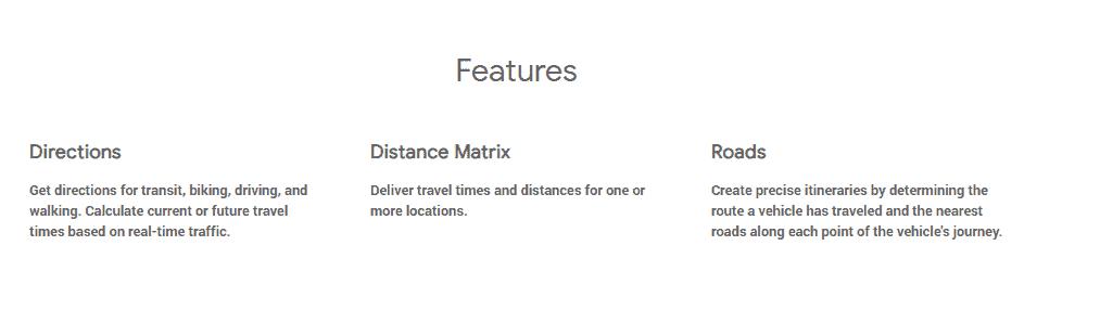 routes google maps api