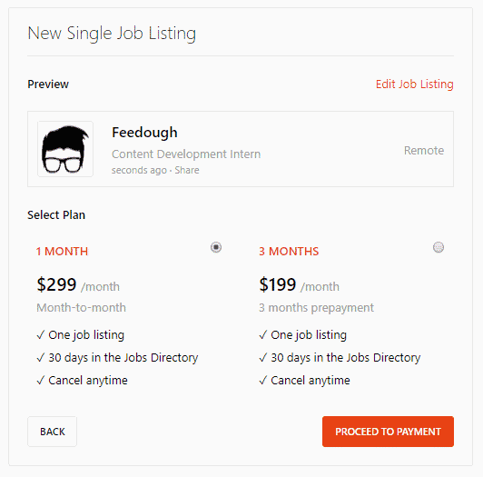 promoted job product hunt
