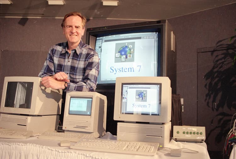 John Sculley introducing System 7