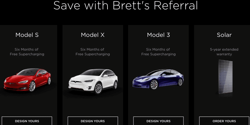Tesla referral strategy