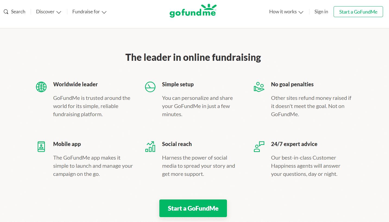 gofundme business model