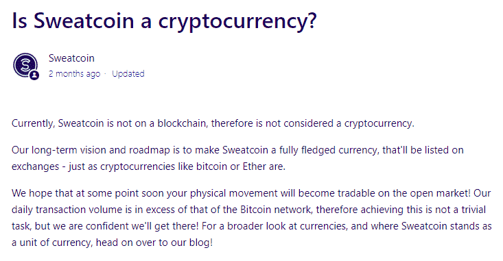sweatcoin crypto