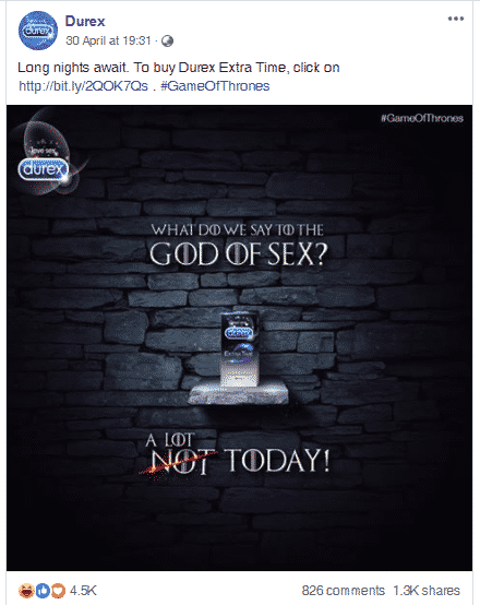 Durex brand awareness
