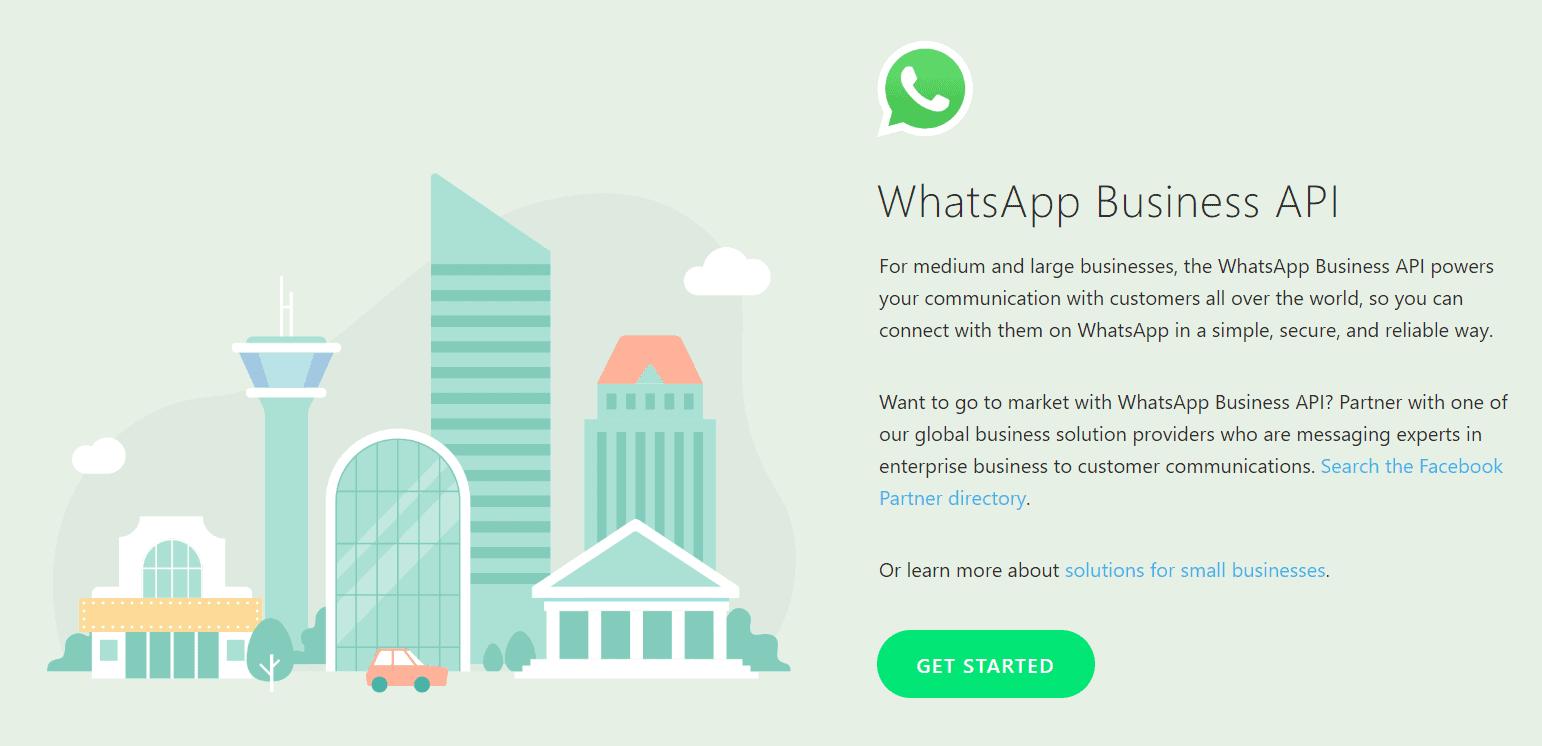 whatsapp for business API