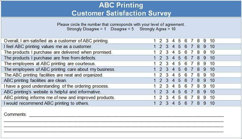 Customer Satisfaction Questions