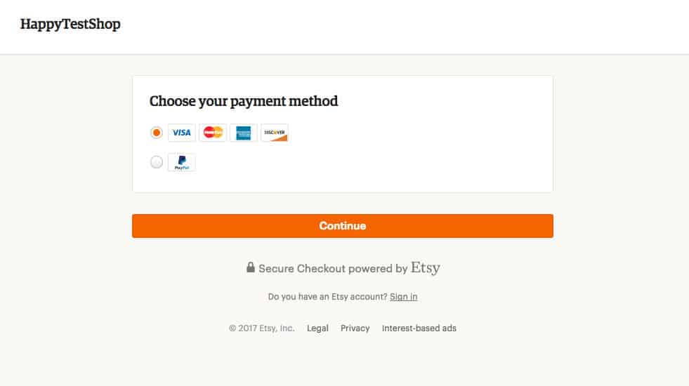 etsy payment processing