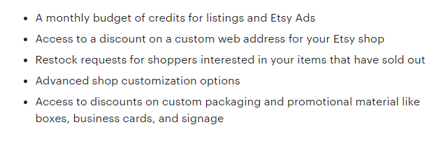 etsy subscriptions