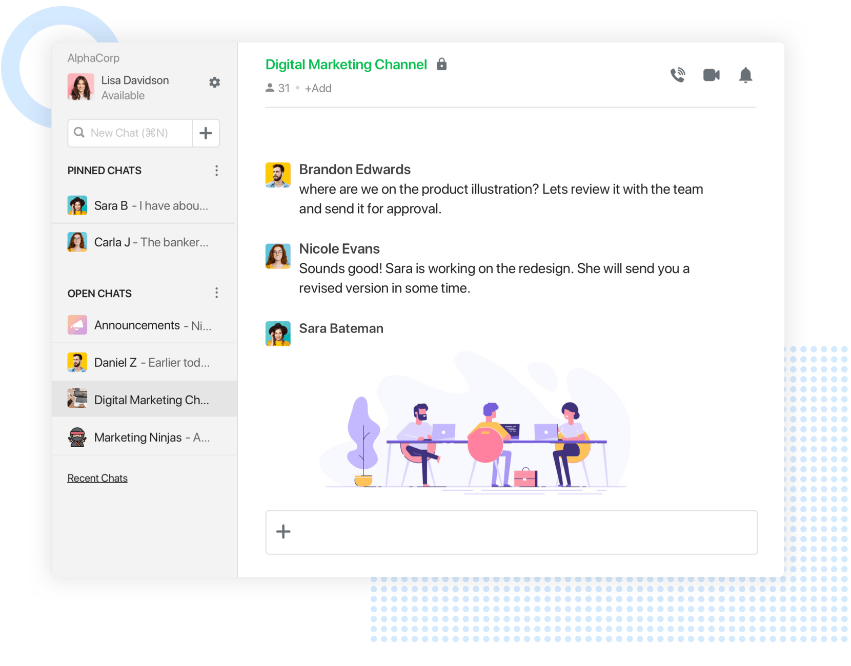 flock user interface