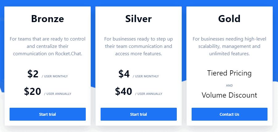 rocketchat cloud pricing