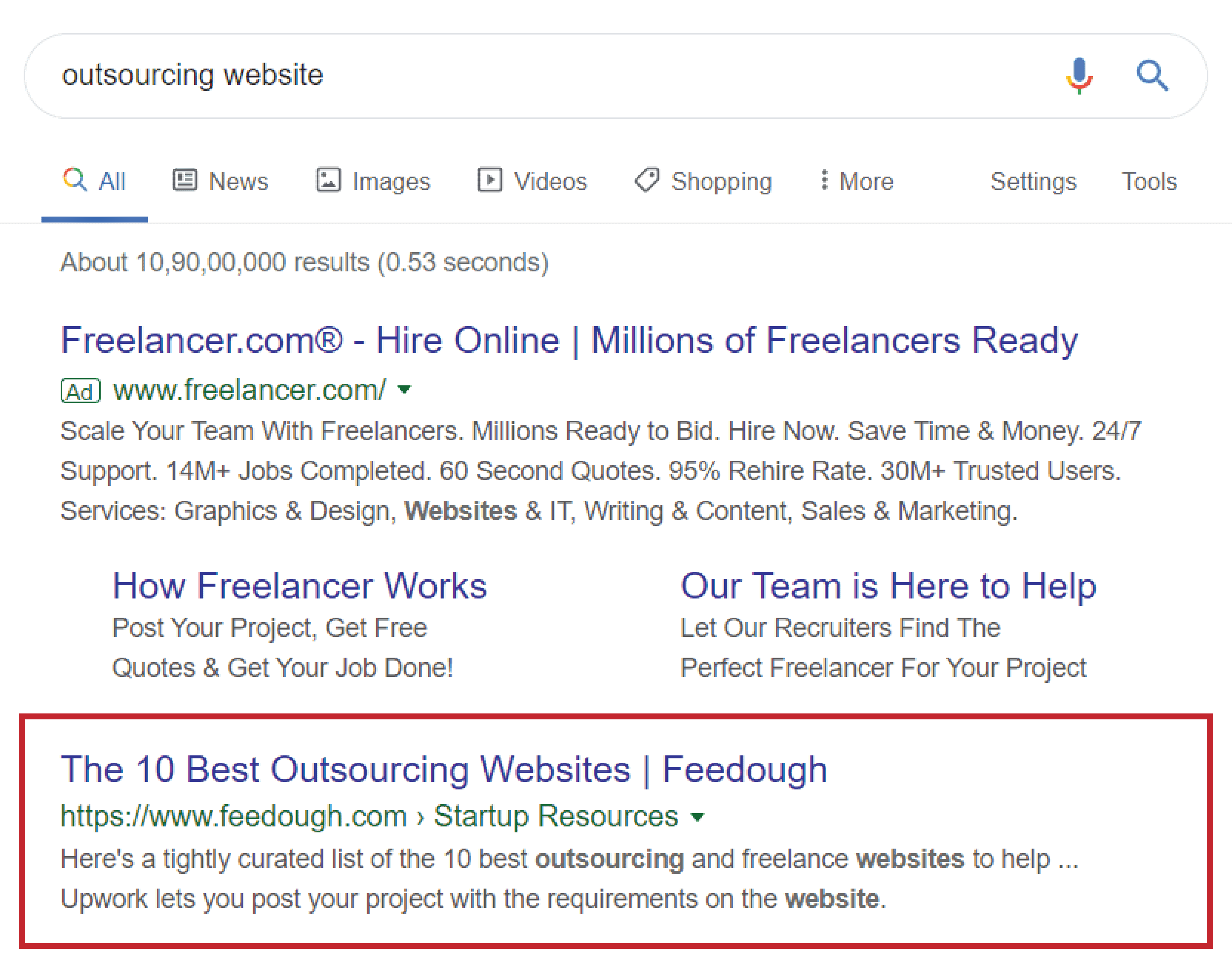An example of SEO optimized article