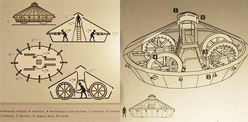 Da Vinci's Armoured Car proof of concept