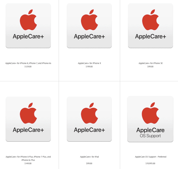 applecare plans