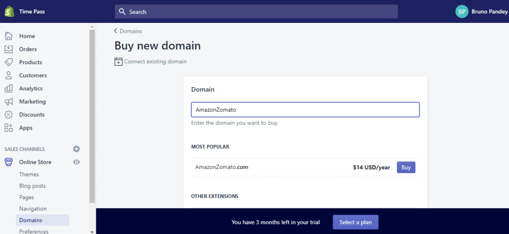 Buying a new domain