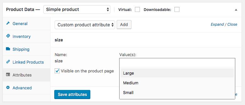 Customising product attributes