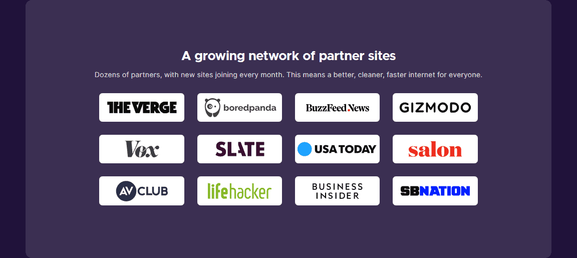 Current Partners for Firefox Better Web