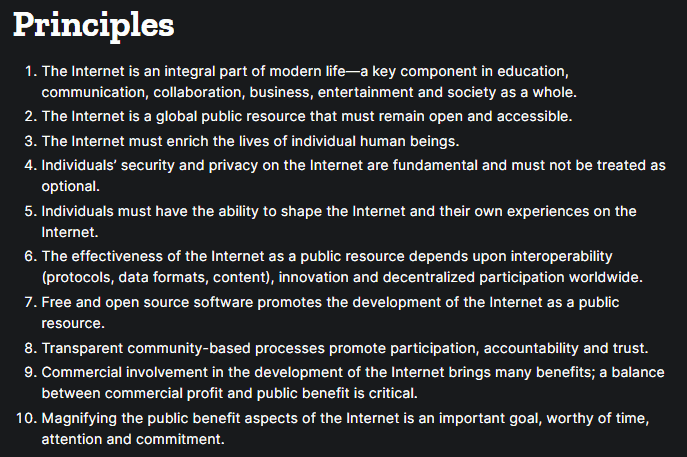 mozilla principles