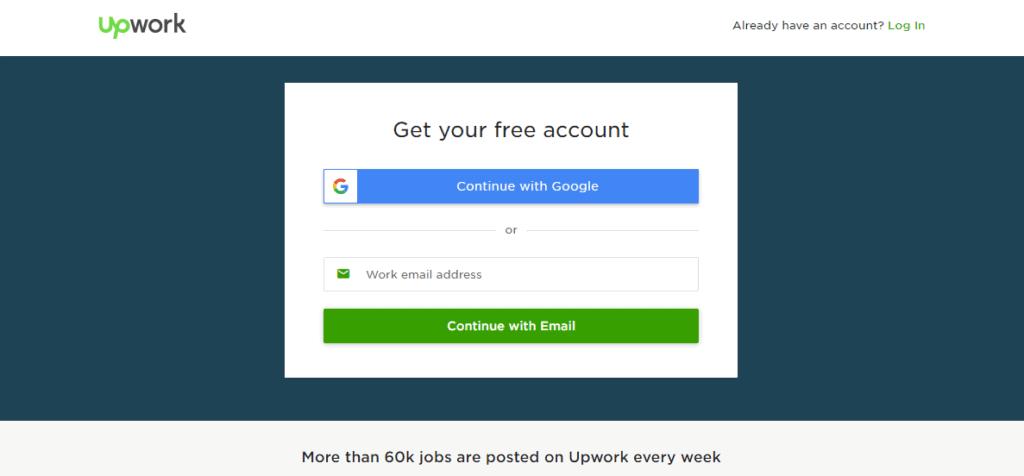 upwork job posting