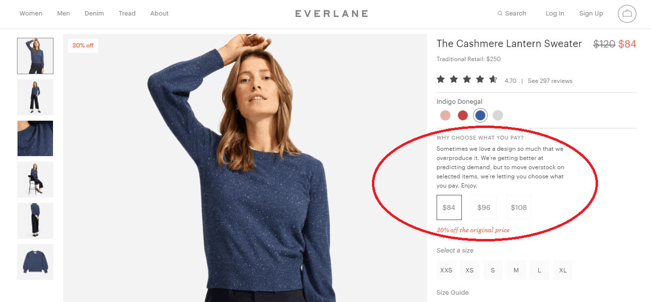 everlane choose what you pay