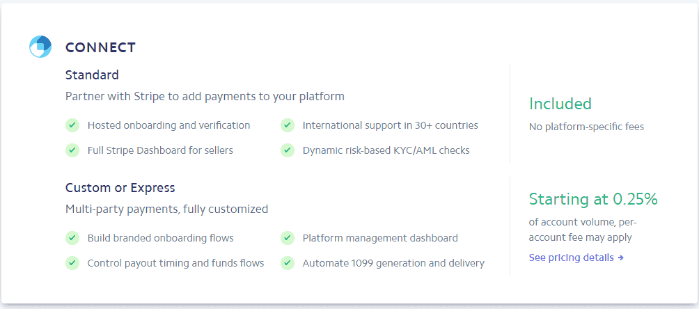 stripe connect fees