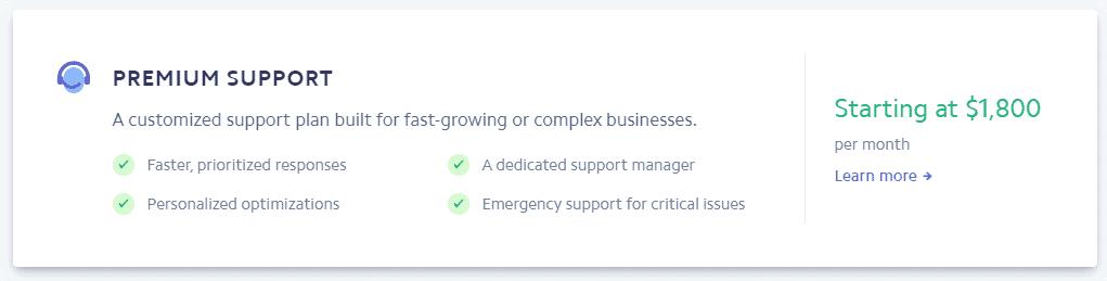 stripe premium support fees