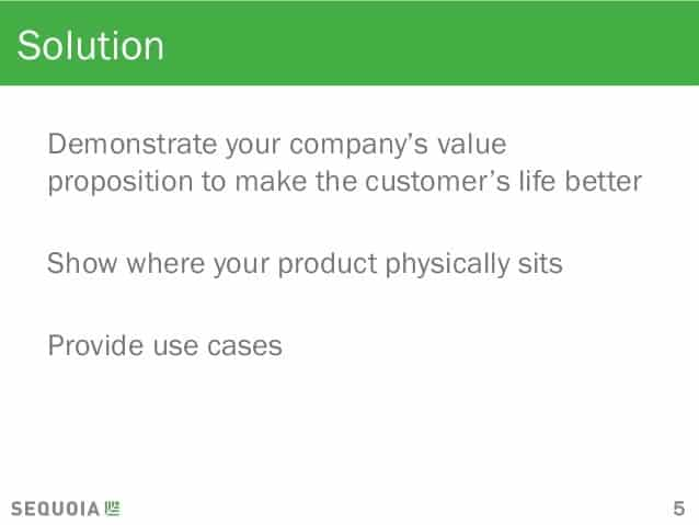 Sequoia Pitch Deck Solution Slide