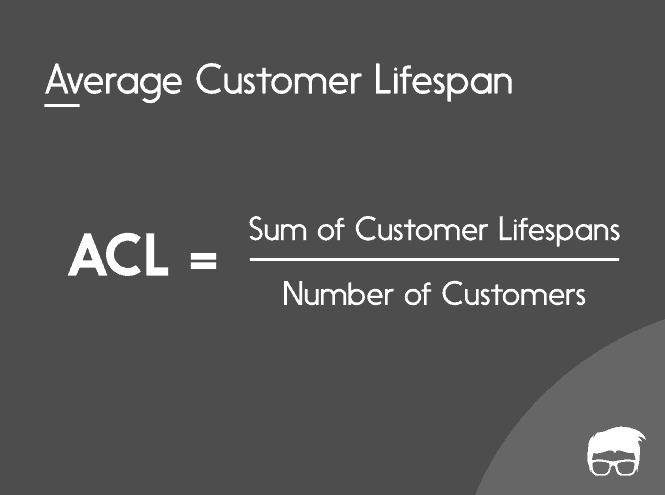 Formule de durée de vie moyenne du client