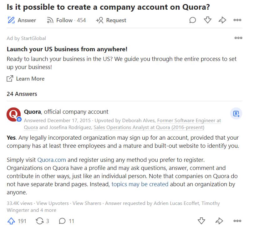 Quora Revenue Model | How does Quora make money? 4