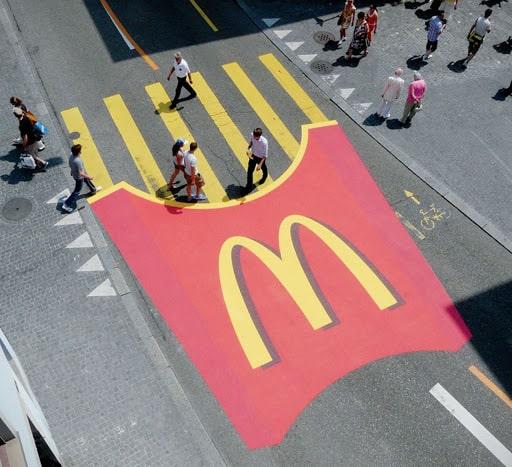 Mcdonald's Crosswalk street fries