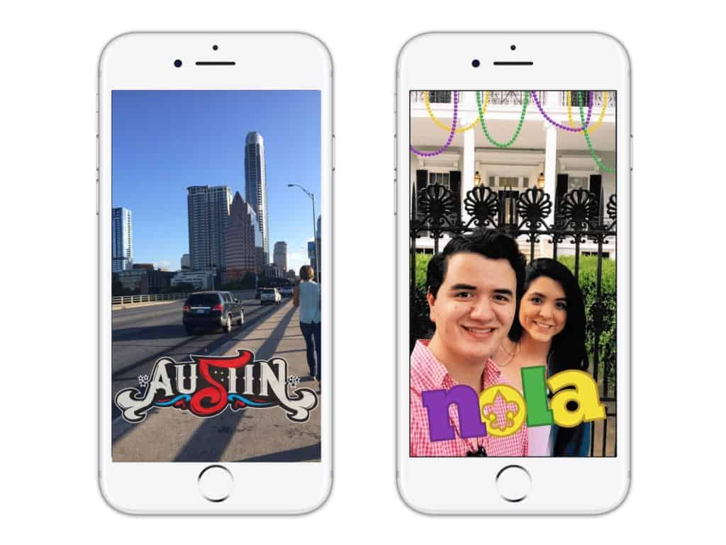 Snapchat Geofilters And Moment Filters